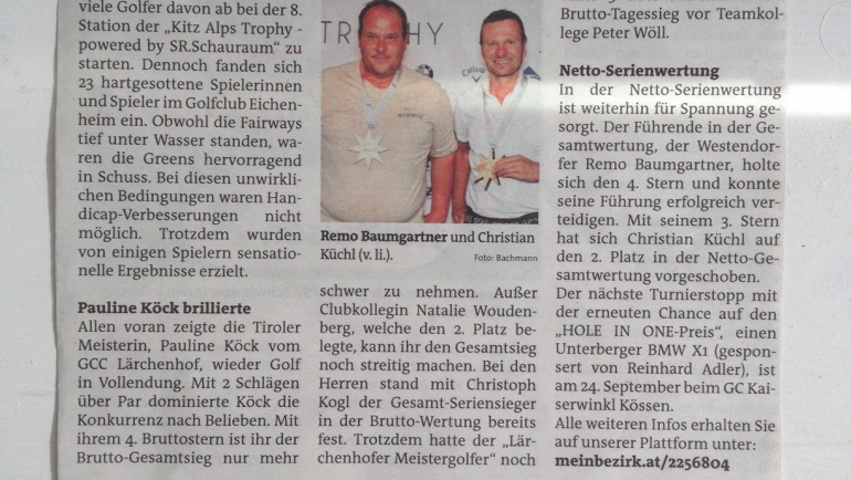 PRESSEMITTEILUNG Bezirksblatt nach 8. Station Eichenheim