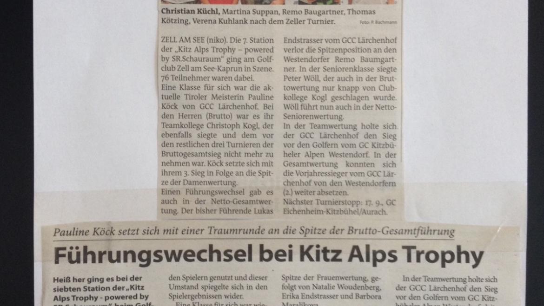 PRESSEMITTEILUNG Kitzbüheler Anzeiger und Bezirksblätter 7. Station Zell am See