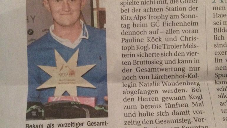 PRESSEMELDUNG Tiroler Tageszeitung nach 8. Station Eichenheim