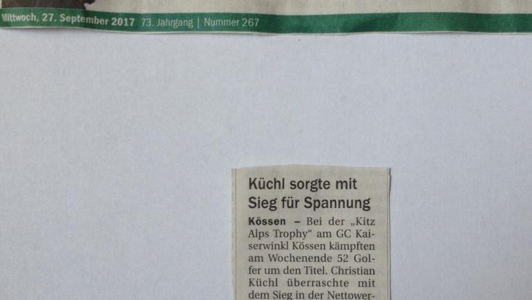 PRESSEMELDUNG Tiroler Tageszeitung 9. Station GC Kaiserwinkl Kössen