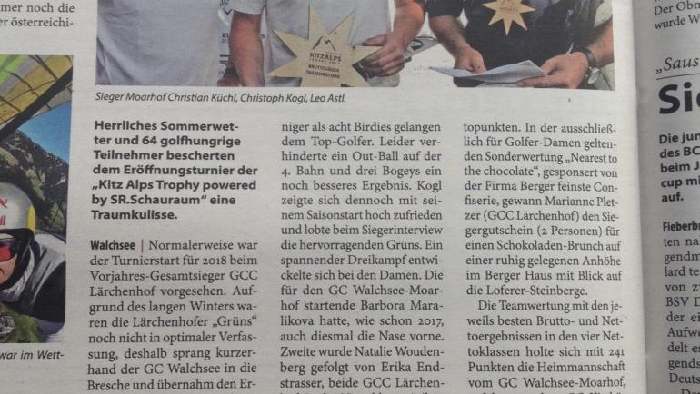 PRESSEMITTEILUNG Kitzbüheler Anzeiger – Moarhof