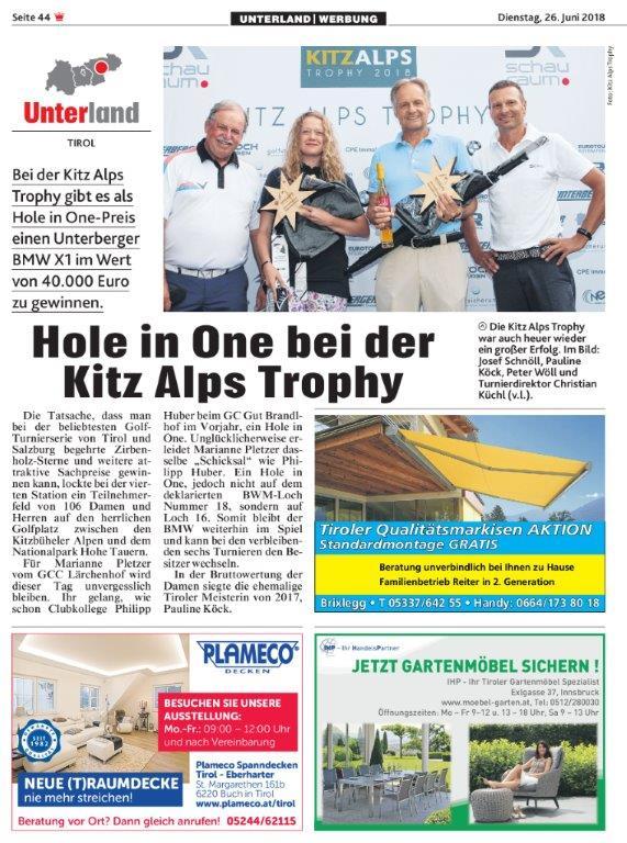 PRESSEMITTEILUNG Kronen Zeitung 4. Station GC Mittersill