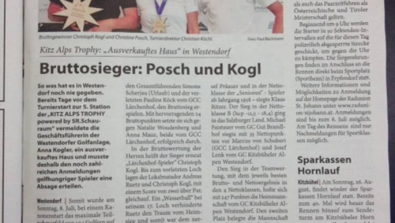 PRESSEMELDUNG 5. Station GC Westendorf Kitzbüheler Anzeiger
