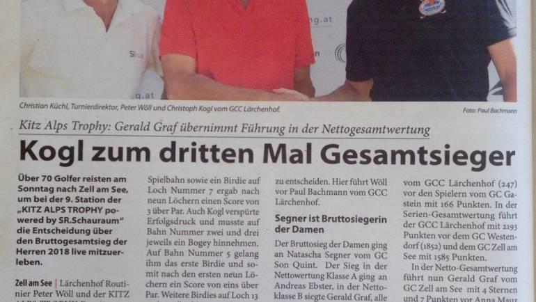 Pressemeldung KITZBÜHELER ANZEIGER GC Zell am See