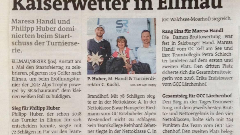 PRESSE – Bezirksblätter Kufstein/Kitzbühel/Pinzgau GC Wilder Kaiser Ellmau
