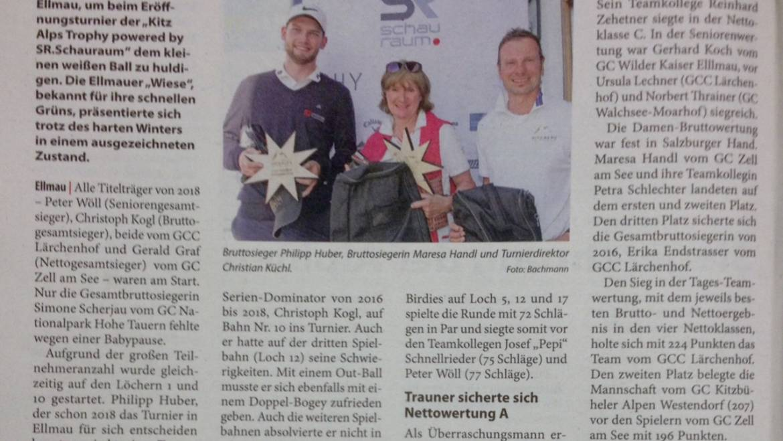 PRESSE – Kitzbüheler Anzeiger GC Wilder Kaiser Ellmau