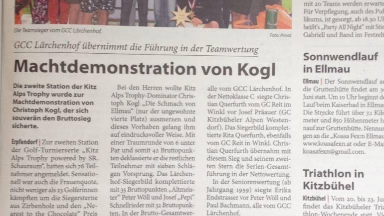 PRESSEBERICHT – Kitzbüheler Anzeiger