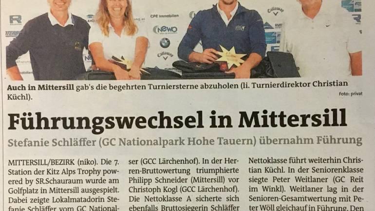 Pressemeldung Bezirksblätter – GC Nationalpark Hohe Tauern